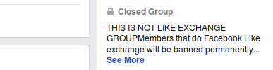 Facebook Group Terms