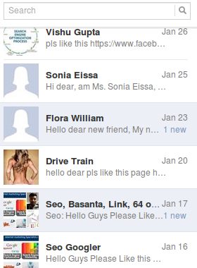 Facebook Chat SPAM