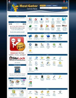 Hostgator cPanel, Shared Hosting